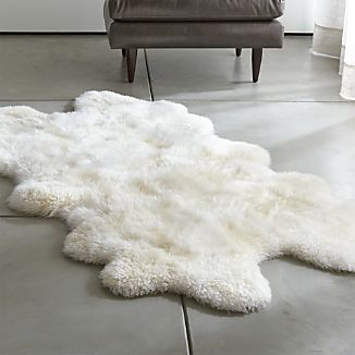 Sheepskin Ivory Throw/Rugs