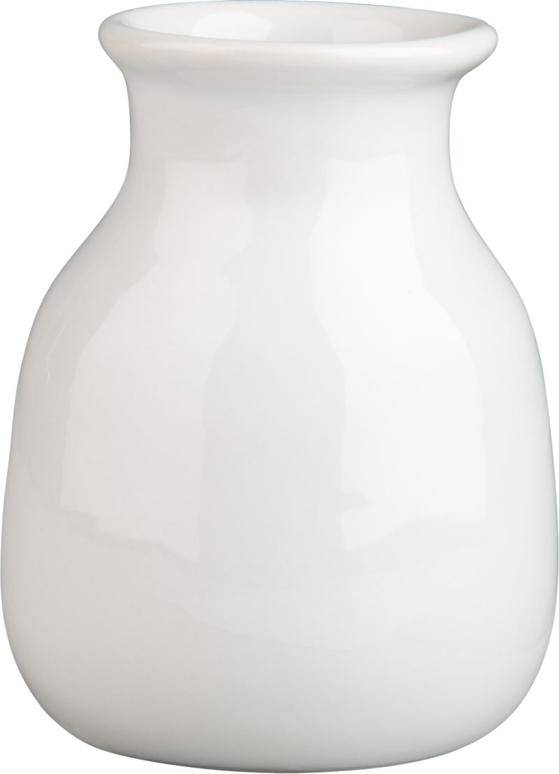 Charming earthenware shape is glazed a fresh, glossy white.<br /><br /><NEWTAG/><ul><li>Earthenware</li><li>Hand wash</li><li>Made in China</li></ul>