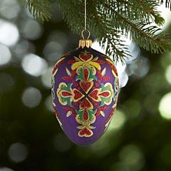 Lara Purple Egg Ornament