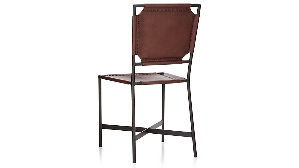 Laredo Brown Leather Dining Chair Crate And Barrel