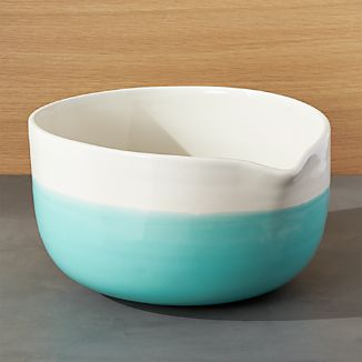 Aqua Dip Mixing Bowl with Spout