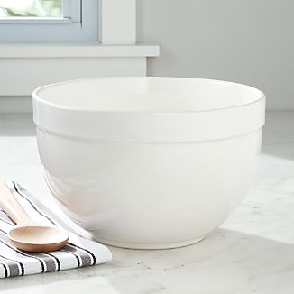 Large White Mixing Bowl