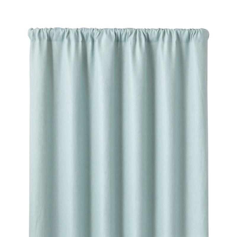 Largo Aqua Linen 50 Quot X96 Quot Curtain Panel Crate And Barrel