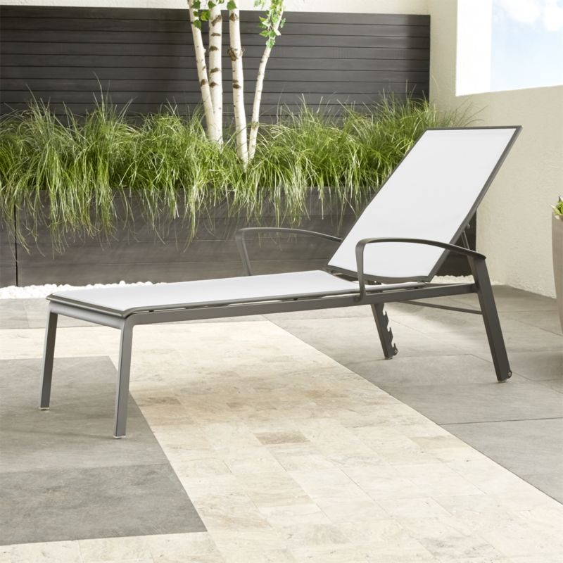 Largo White Mesh Chaise Lounge Crate And Barrel