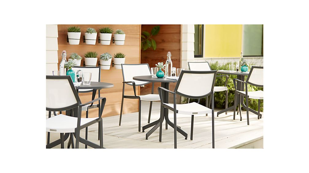 Largo White Mesh Dining Chair