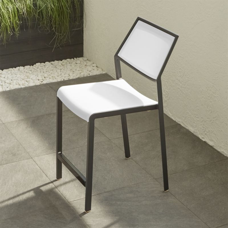 Largo White Mesh Counter Stool Crate And Barrel