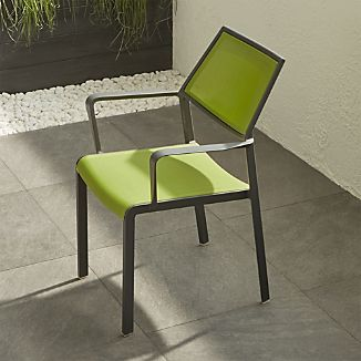 Largo Grass Green Mesh Dining Chair