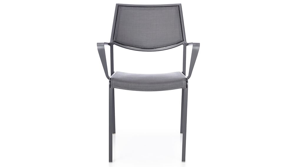Largo Charcoal Grey Mesh Dining Chair Crate And Barrel