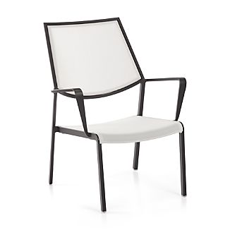 Largo White Mesh Lounge Chair