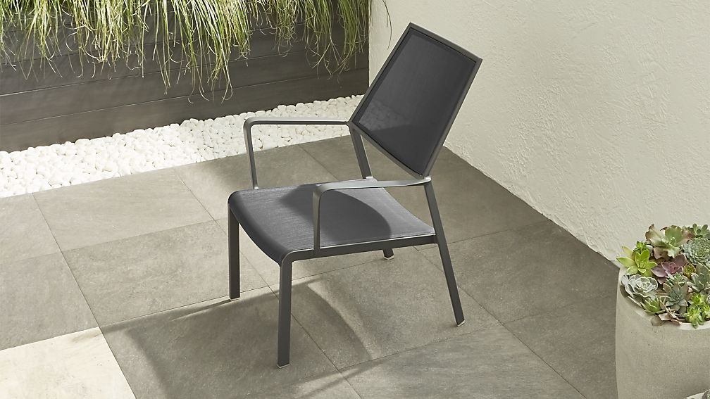 Largo Charcoal Grey Mesh Lounge Chair