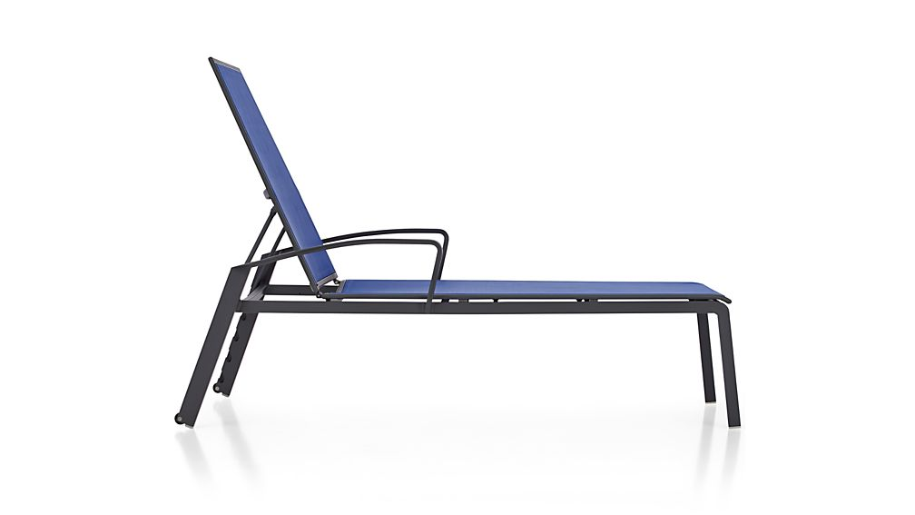largo mediterranean blue mesh chaise lounge crate and barrel