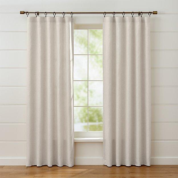 Largo Natural Linen Curtain Panels Crate And Barrel