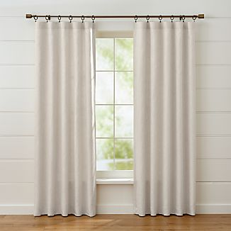 Largo Natural Linen Curtain Panels