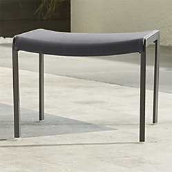 Largo Charcoal Grey Mesh Lounge Chair Crate And Barrel