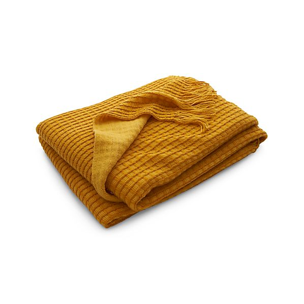 Lark Yellow Throw