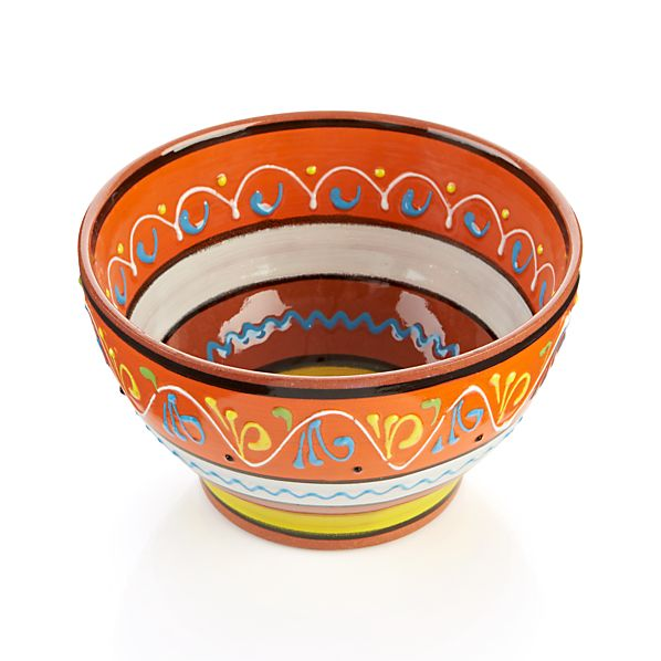 "Las Ramblas 6"" Orange Footed Bowl"