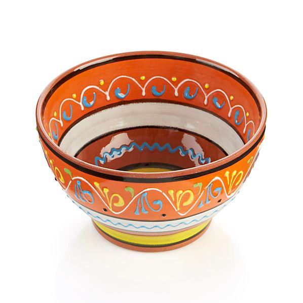 """Las Ramblas 6"""" Orange Footed Bowl"""