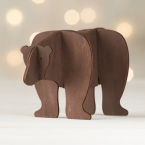 Laser-Cut Wood Bear
