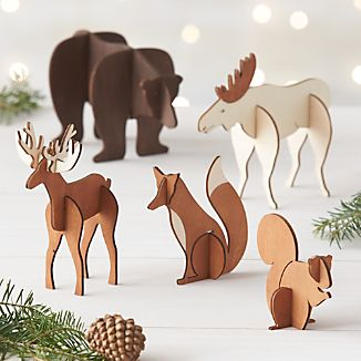 Laser-Cut Wood Animals