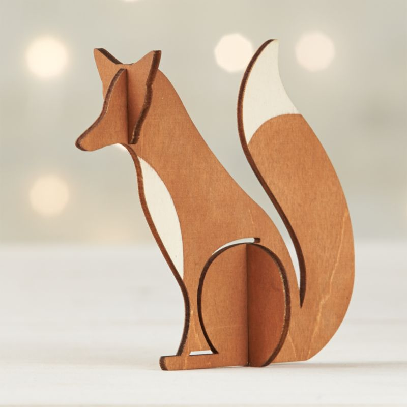 Laser Cut Wood Fox Crate And Barrel