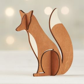 Laser-Cut Wood Fox