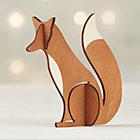 Laser-Cut Wood Fox.