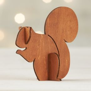Laser-Cut Wood Squirrel