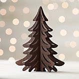 Laser-Cut Wood Dark Tree