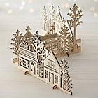 3-Piece Laser-Cut Wood Village.