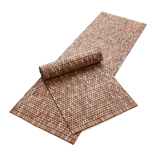 Crate And Barrel Bath Rugs: Lattice Wooden Mats
