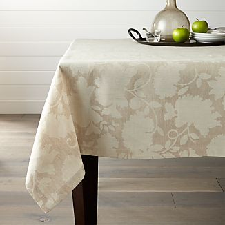 "Laurel 60""x120"" Linen Tablecloth"
