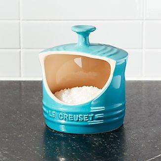 Le Creuset ® Caribbean Blue Salt Crock