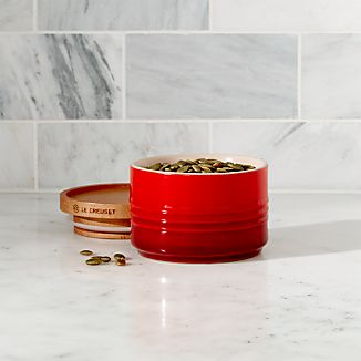 Le Creuset Canister 12oz. Canister with Wood Lid