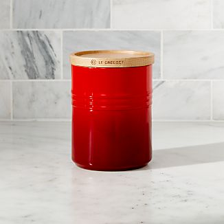 Le Creuset Canister 23oz Canister with Wood Lid