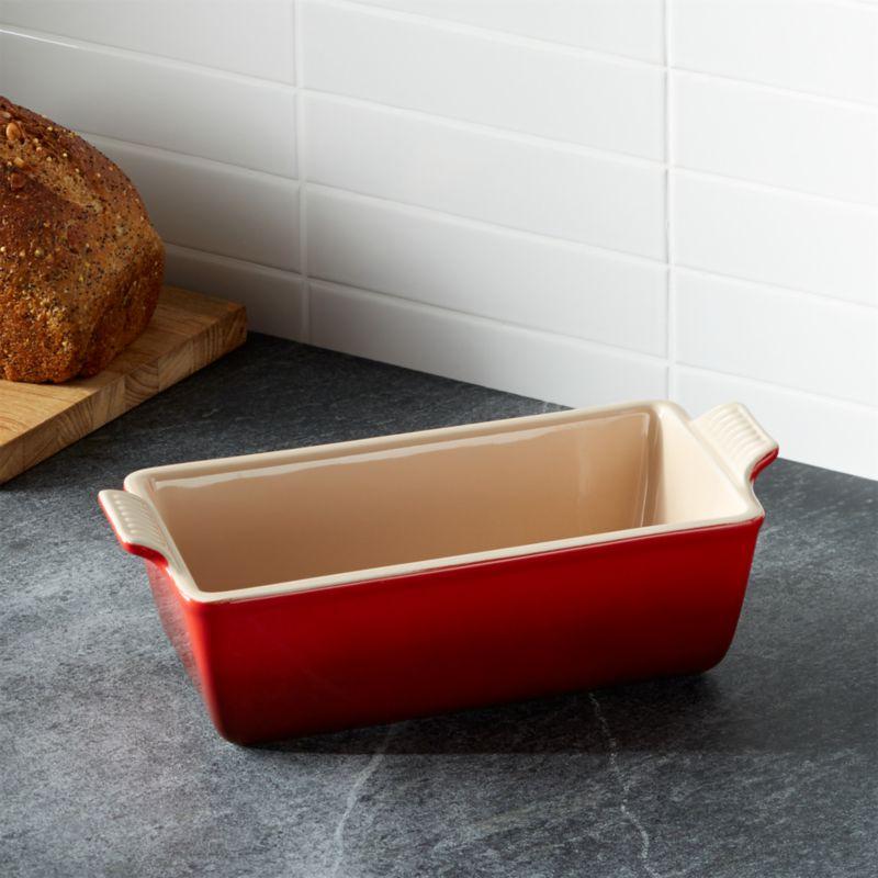 Le Creuset 174 Cerise Loaf Pan Crate And Barrel
