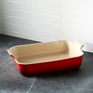 Le Creuset Heritage Rectangle Cerise Red Dish Cherry