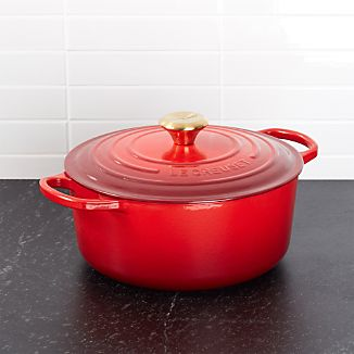 Le Creuset ® Limited Edition 5.5-Qt. Cerise Red Round French Oven with Gold Knob