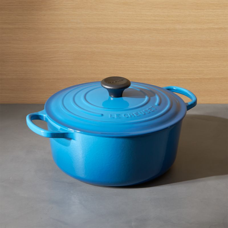 Le Creuset ® Signature 5.5-Qt. Round Marseille Blue French Oven with Lid