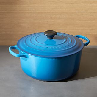 Le Creuset ® Signature 7.25-Qt. Round Marseilles Blue French Oven with Lid