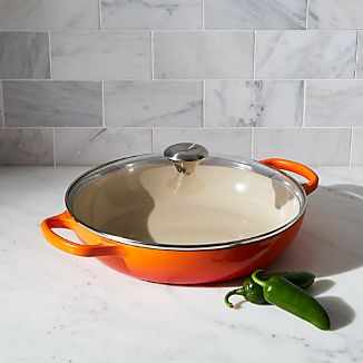 Le Creuset ® Glass Covered 3.5 qt. Flame Buffet Casserole Dish