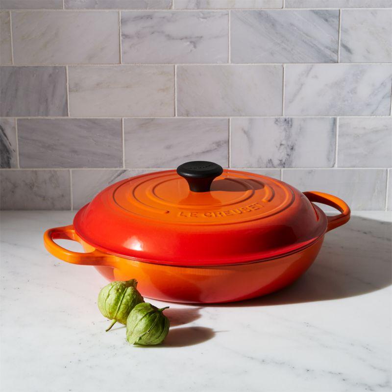 Le Creuset ® Signature 3.75-qt. Flame Everyday Pan