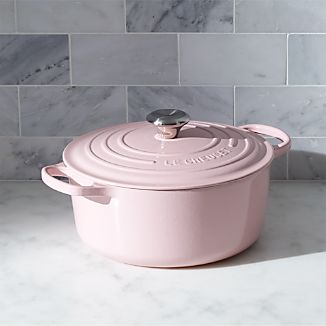 Le Creuset ® Signature 5.5-Qt. Round Hibiscus Pink French Oven with Lid