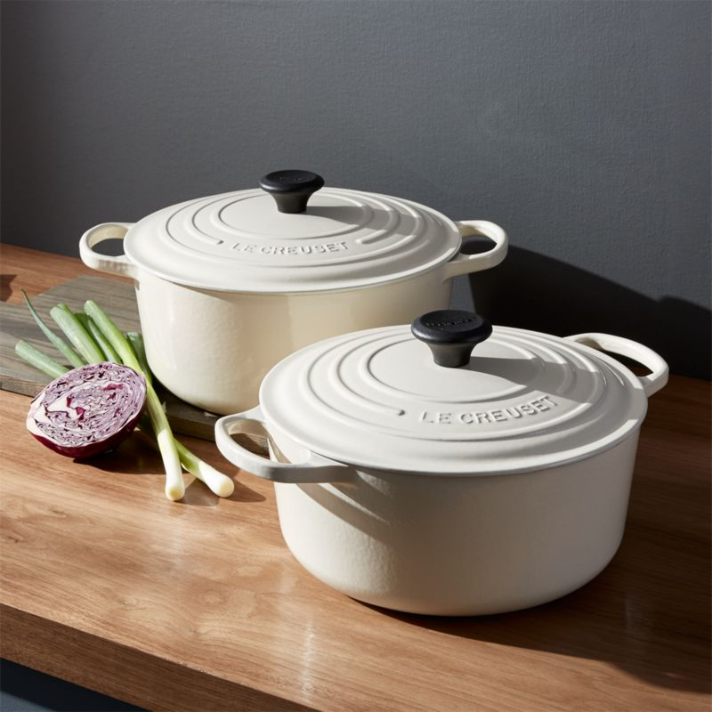 Le Creuset 174 Signature Round Cream French Ovens With Lid