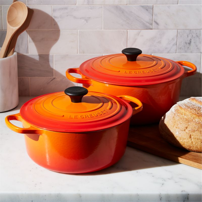 Le Creuset 174 Signature Flame Round French Ovens Crate
