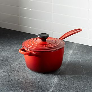 Le Creuset ® Signature 1.75 qt. Cherry Red Saucepan with Lid