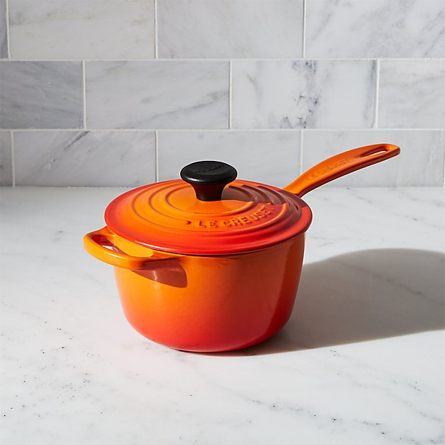 Le Creuset 174 Signature 1 75 Qt Flame Saucepan With Lid