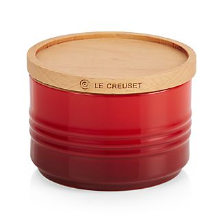 Le Creuset 22 oz. Canister with Wood Lid