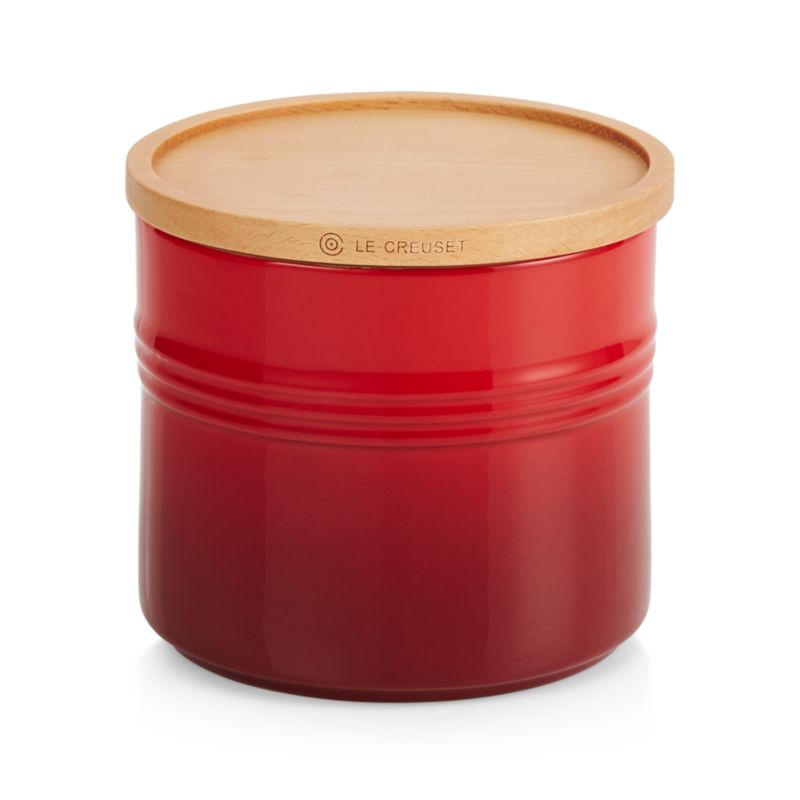 Le Creuset Canister 1.5qt Canister with Wood Lid