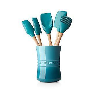 Le Creuset ® Caribbean 6-Piece Utensil Crock Set