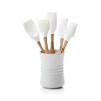 Le Creuset ® White 6-Piece Utensil Crock Set